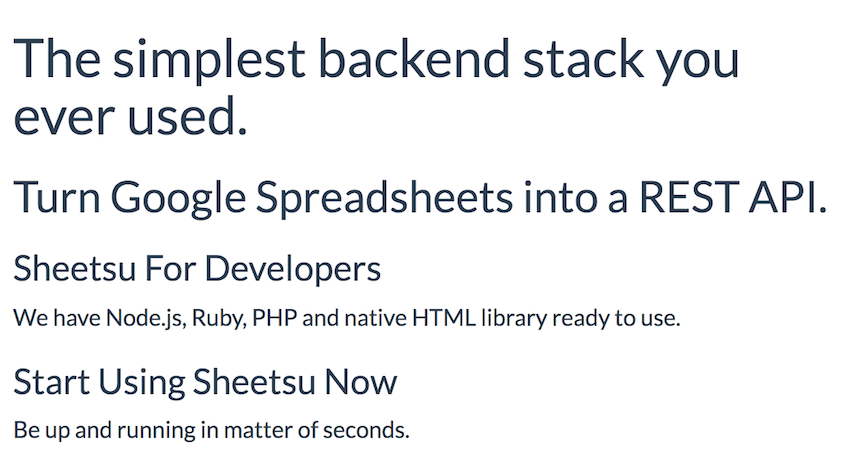 Turn Google Sheets into a REST API
