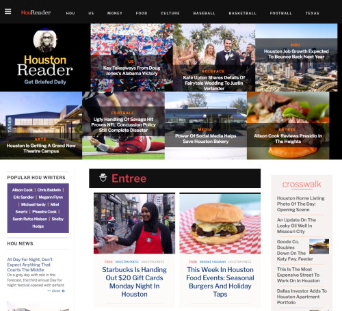 Huston reader website look